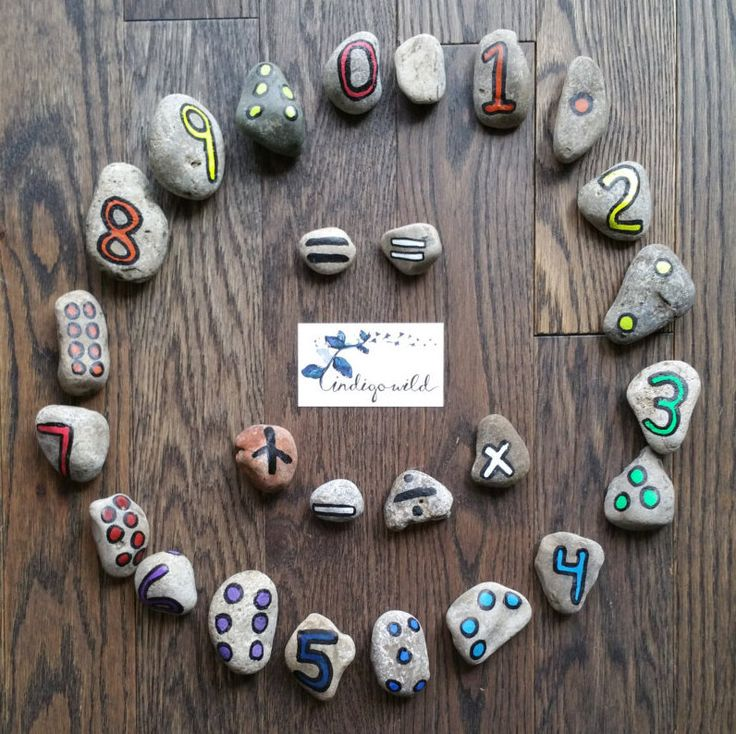 Numbers - READING ROCKS! (Double Sided) by madebyindigowild on Etsy