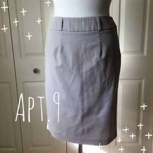 I just discovered this while shopping on Poshmark: Khaki Pencil Skirt. Check it out! Price: $25 Size: 4