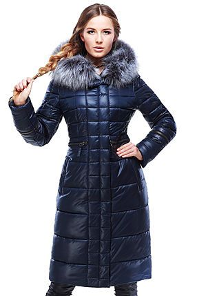 Женское зимнее пальто с чернобуркой Амина  в Украине по низким ценам , фото 2