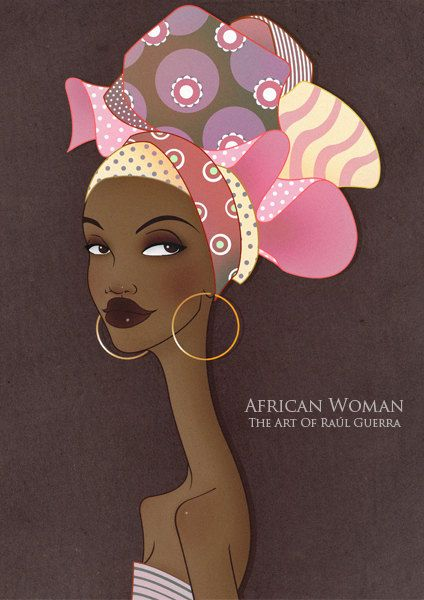 African Woman II Vintage Edition print.- The Art of Raul Guerra
