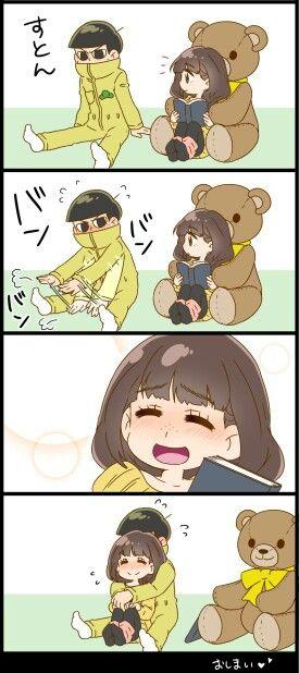 Osomatsu-san- Jyushimatsu and girl 2/2 #Anime「♡」