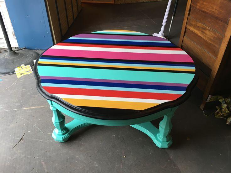 Serape coffee table at Junktoria