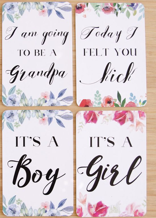 Queen Bee Pregnancy Milestone Cards in Vogue Floral by Blossom & Pear