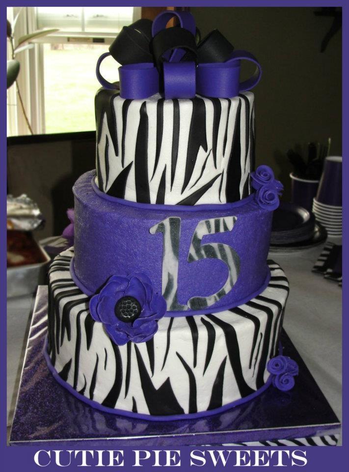 Purple Zebra Cake Design : Purple Zebra Cake Jazmine s Quince