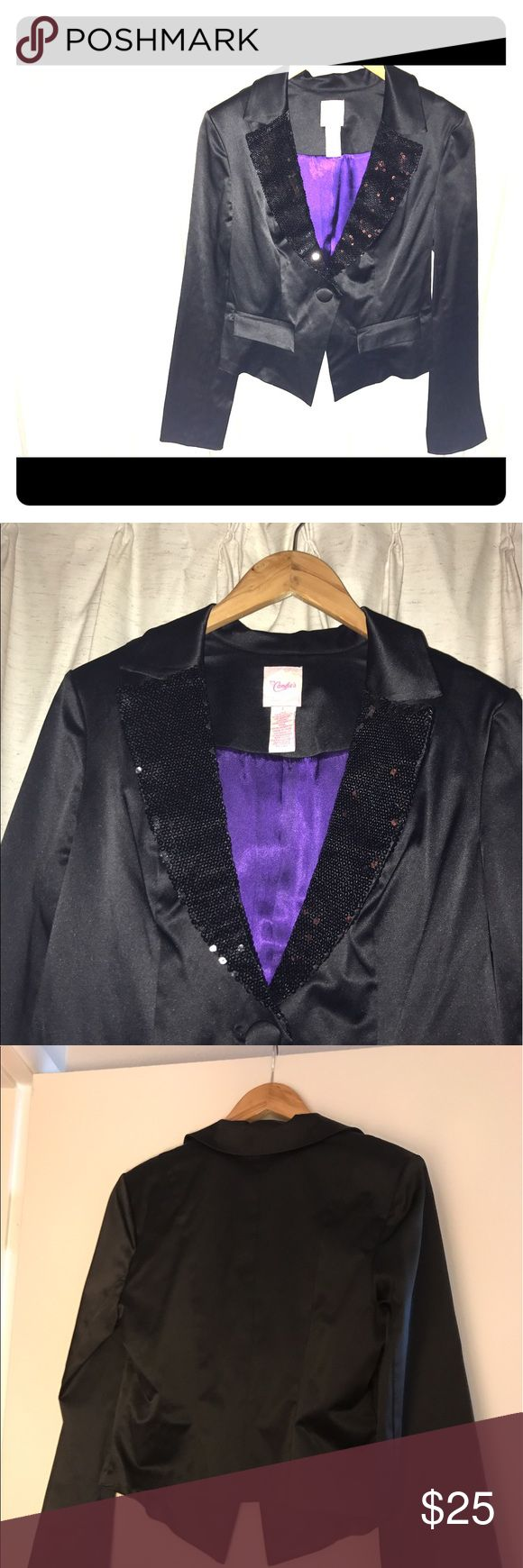 Selling this Candie's Women's Tuxedo Jacket size L on Poshmark! My username is: itsjustsoup. #shopmycloset #poshmark #fashion #shopping #style #forsale #Candie's #Jackets & Blazers
