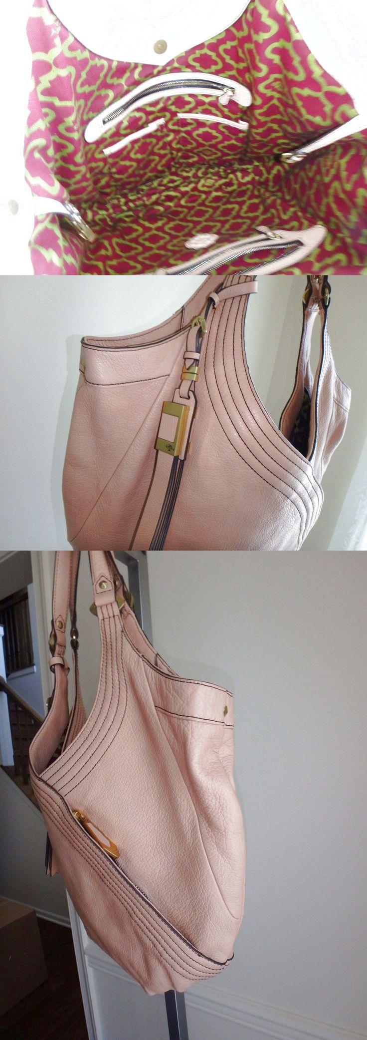 ORYANY ITALIAN GRAIN LEATHER HOBO BAG PURSE TRACY ALMOND NEW $92.99