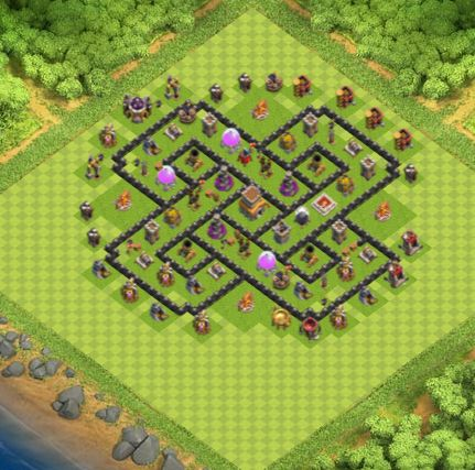 Town Hall 8 Farming Base Clash Of Clans | Update 2017