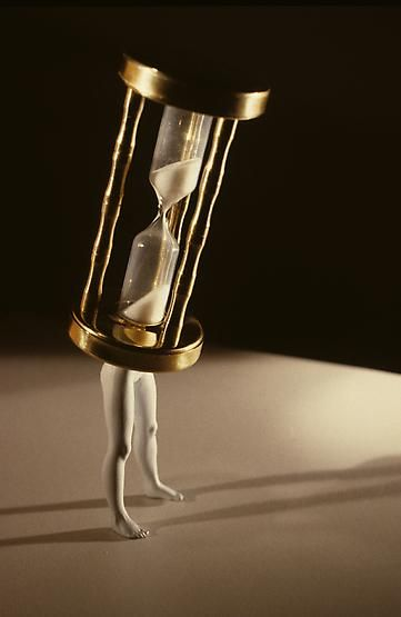 """Walking Hourglass (Color)"" 
