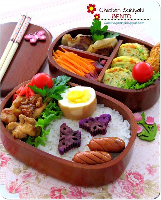 chicken sukiyaki bento cooking gallery breakfasts pinterest bento bento box and lunches. Black Bedroom Furniture Sets. Home Design Ideas