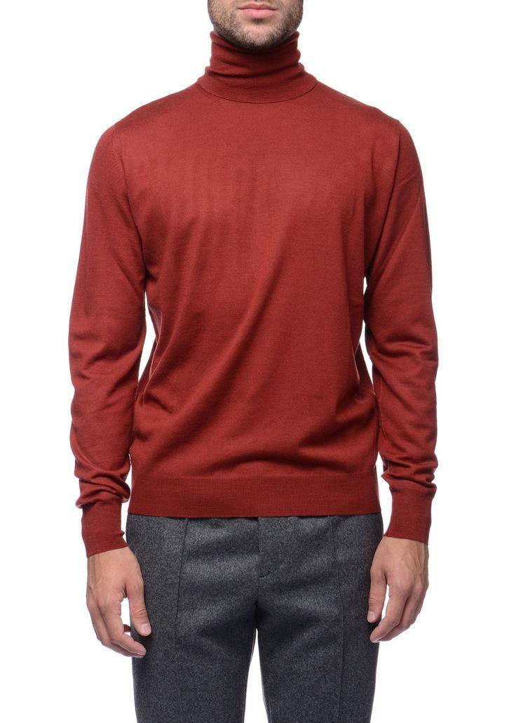 Federico Curradi - FW16- Menswear // Red turtleneck sweater in wool
