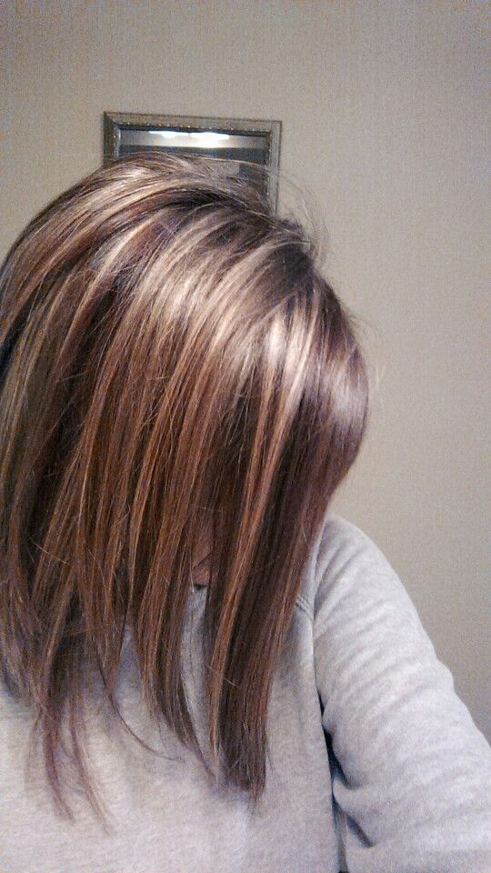 My own highlights! A red mixed with brown lowlight and blonde highlights