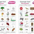 """Heb je al eens gehoord van een """"Scavenger Hunt""""? Een scavenger is een 'hamsteraar"""" of een """"verzamelaar'. Aan de hand van een zoekkaart gaan we de natuur verkennen. Of het strand, de buurt of de stad?  Je hebt hiervoor nodig:    Fototoestel of camera op telefoon   Papier met tekenpotloden (indien geen camera)   De hunt kaarten uit deze webshop  Download deze 4 PDF kaarten en print ze zo vaak je ze nodig hebt. Voor ieder kind 1 of 1 per groep?  Een Scavenger Hunt is in Engeland en Amerika een…"""