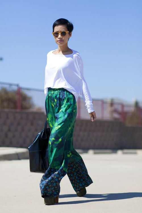 45 best images about How To Wear: Wide Leg Trousers on Pinterest