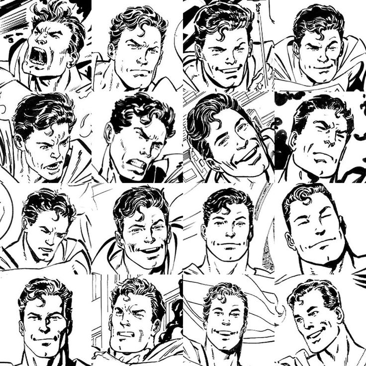 Close-ups of Superman faces drawn by Byrne in his commissions over the years. (Source Jovi Neri)