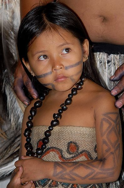 Terena child at Brazil's Indigenous Games; by Agência Brasil.