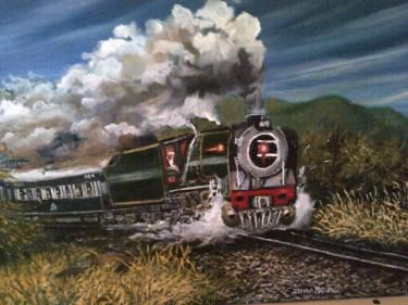 "Saatchi Art Artist FRANS BOTHA; Painting, ""34 CLASS F  FROM PRETORIA TO lOGOS (PRIVATE COMPANY) PRIDE OF AFRICAN"" #art"