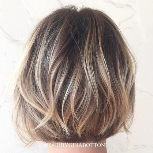 Blonde Balayage For Brown Bob                                                                                                                                                                                 More