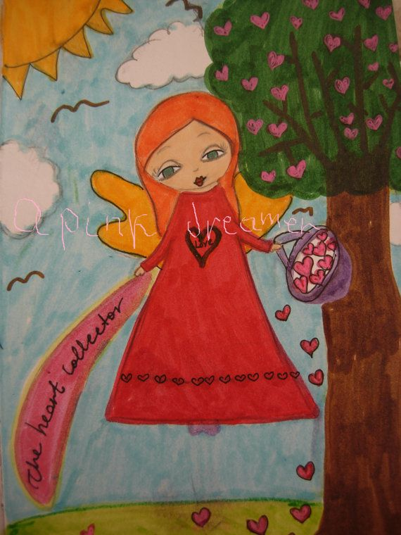 The Heart Collector Mixed media art print/reproduction by eltsamp, $20.00