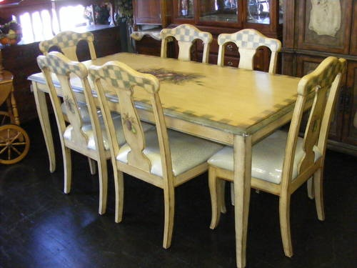 artisan hand painted square dining room set d373 31 largo
