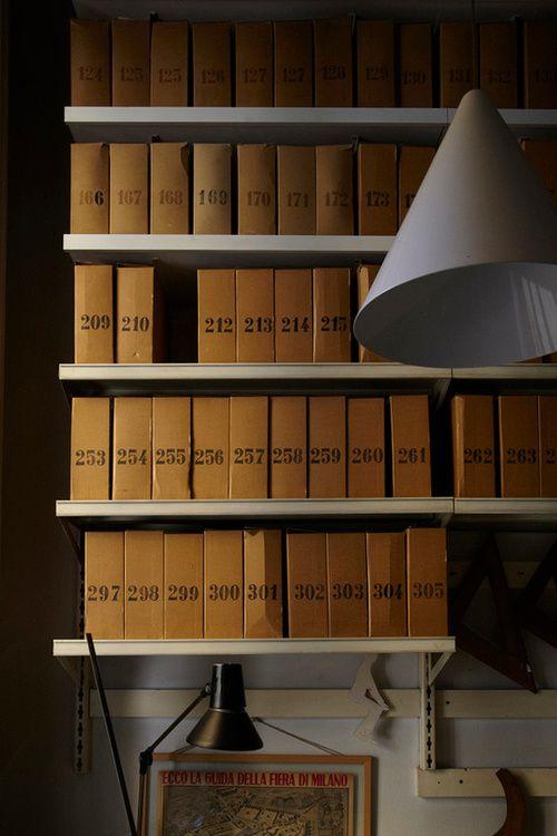Achille Castiglioni studio library