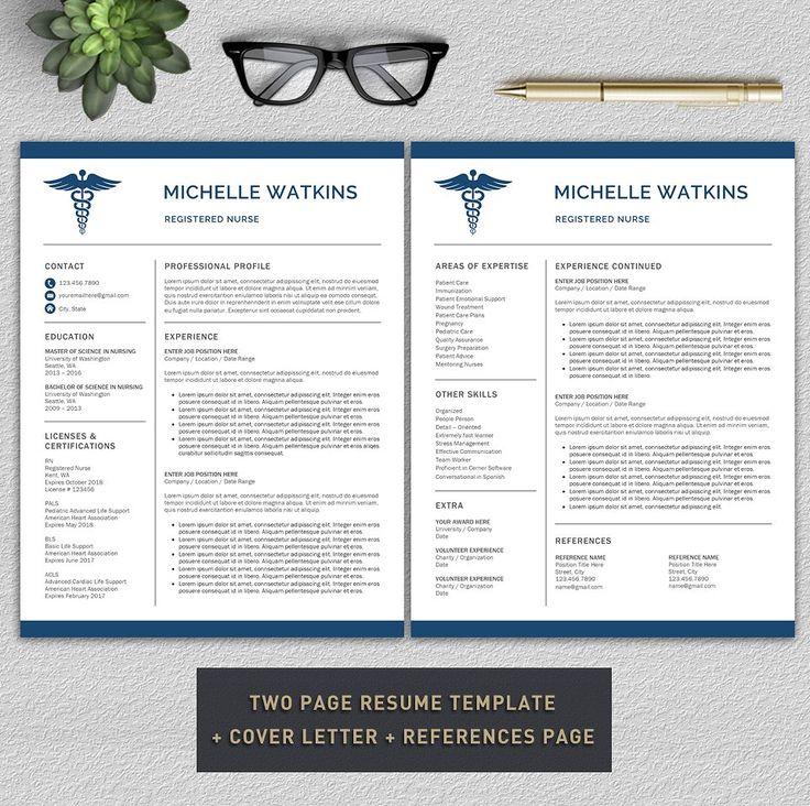 Medical Resume/Nurse CV by Pro.Graphic.Design on @creativemarket
