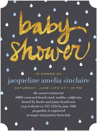 Shining Sprinkle - Baby Shower Invitations - Hello Little One in blue and gold #babyshower