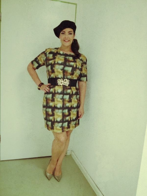Sept/Oct 2013, TSME Tour  Beret: Accessorize Dress: COS Shoes: Jimmy Choo