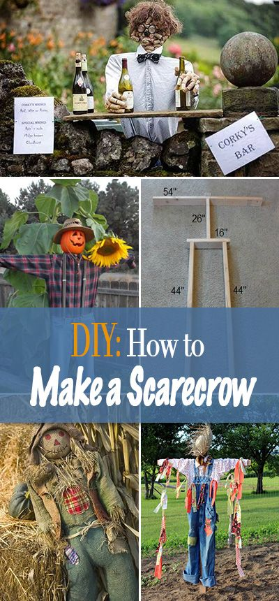 DIY Decor : How to Make a Scarecrow • Learn how to make an easy and inexpensiv…