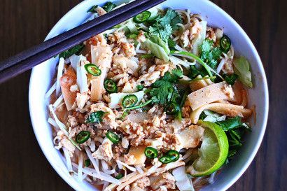 A simple northern Thai soup that will warm your body and soul. Fish, chicken, or pork can be used. The crunchy vegetables really make this soup great; as does the broth.
