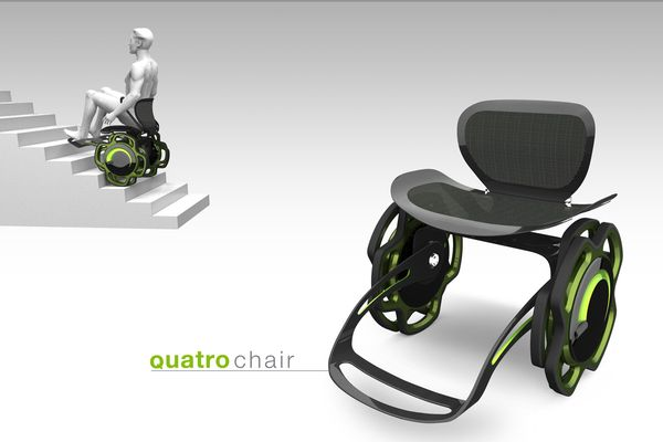 Quatro chair by Nori Sakatsume, via Behance. This would make building design a lot easier!!