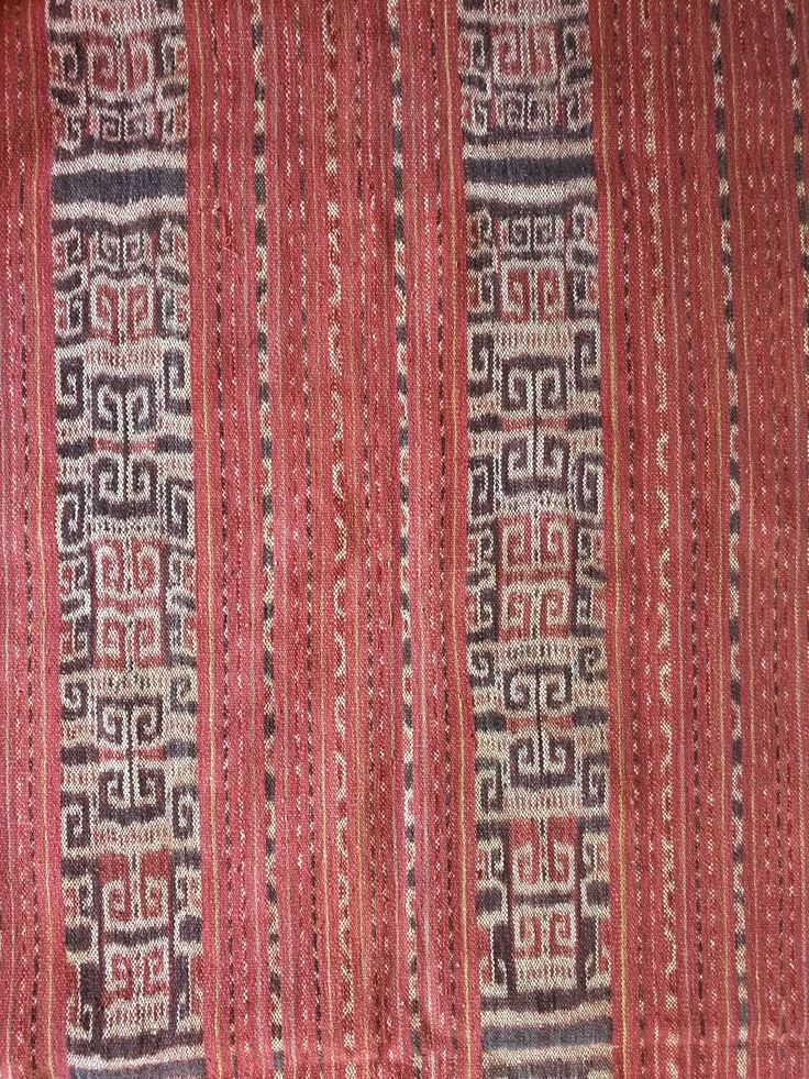 Partial view of Handspun cotton ikat hip wrapper. Besikama, West Timor. Natural dyes. www.kulukgallery.com