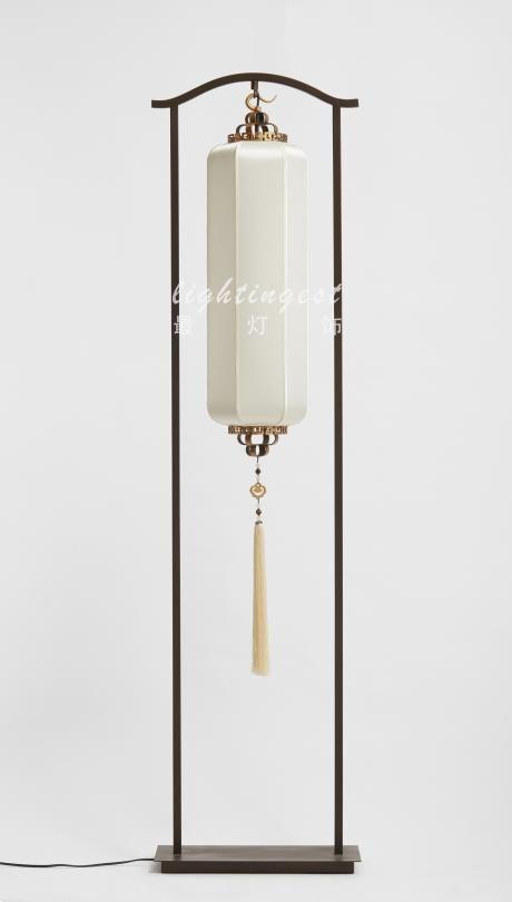New Chinese style floor lamp【最灯饰】现代新中式禅意新款灯笼落地灯
