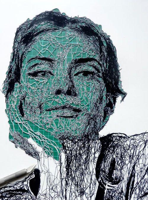Papercut Portraits by Kris Trappeniers