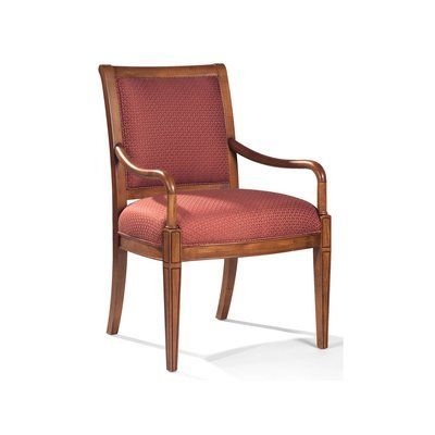 Sam Moore Nicholas Exposed Wood Arm Chair Finish: Palisade Dark, Upholstery: 2159 Cranberry #ChairUpholstery