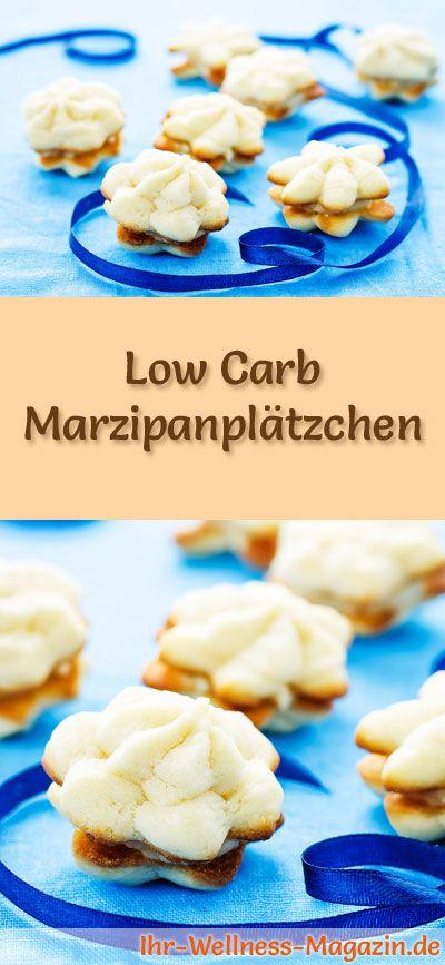 Low-Carb-Weihnachtsgebäck-Rezept für Marzipanplätzchen: Kohlenhydratarme, kalorienreduzierte Weihnachtskekse - ohne Getreidemehl und Zucker gebacken ... #lowcarb #backen #weihnachten