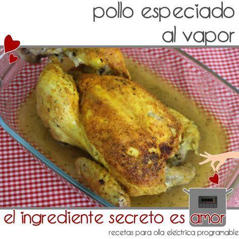 Receta pollo al vapor con especias en olla gm