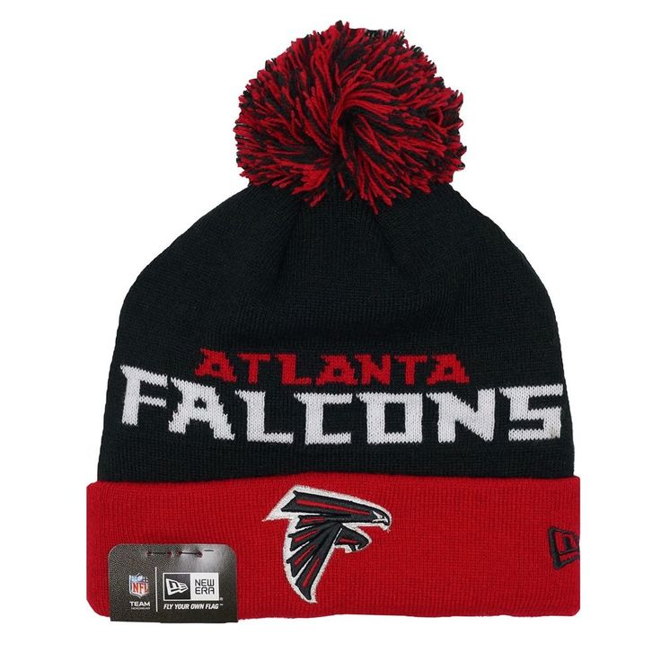 "NFL Atlanta Falcons New Era NFL ""Winter Fresh"" Cuffed Knit Hat with Pom #NewEra #AtlantaFalcons"