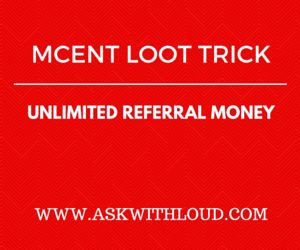 New updated trick to earn unlimited free recharge from mCent android app - mCent android app is one of the best way to discover free Android apps and get rewarded with free airtime on your mobile number.