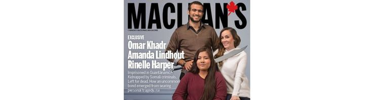 Ezra Levant of TheRebel.media reports:  So as I reported earlier, Maclean's magazine gave confessed, convicted terrorist Omar Khadr the full celebrity treatment this week.   And this cover is on their Remembrance Day issue. Maclean's is celebrating a terrorist who murdered a soldier, and planted IEDs that may have killed many more.