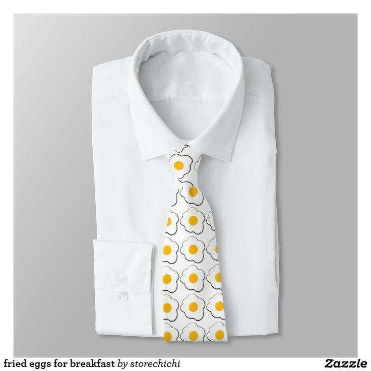 fried eggs for breakfast tie