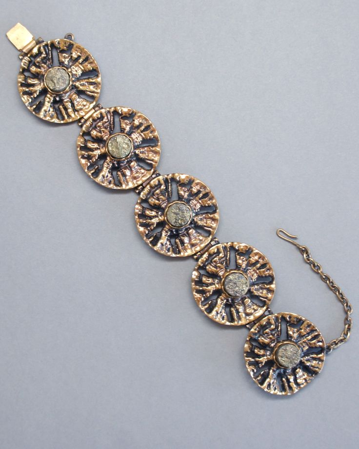 Pentti Sarpaneva Bronze and Pyrite Bracelet