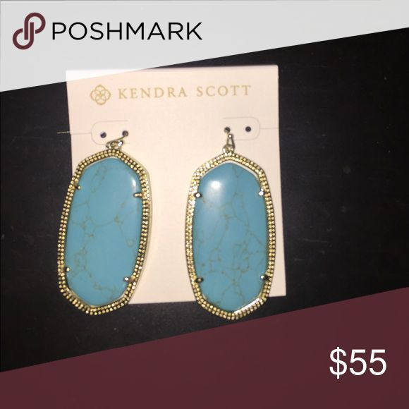 Kendra Scott Danielle Brand new, turquoise Kendra Scott Danielle earnings, still with packaging Kendra Scott Jewelry Earrings
