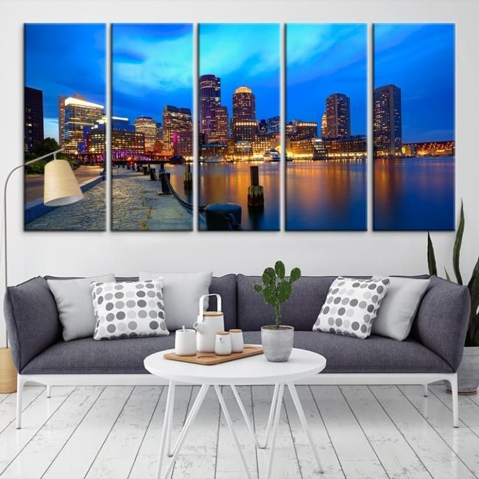 40479   Boston City Decorative Wall Art Canvas Print   Boston Skyline,  Boston, Boston Canvas, Boston Wall Art, Canvas Print, Boston Print, Wall Art