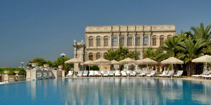 Ciragan Pool next to Bosporus