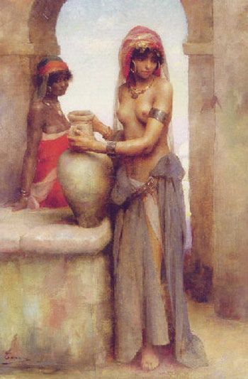 At the Well by the French painter Adrien Henri Tanoux (1865-1923).