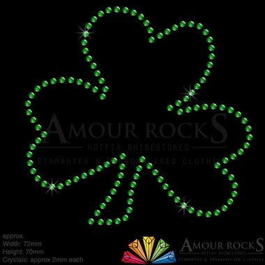 celebrate st. patricks day by decorating your own clothing with these crystal shamrocks
