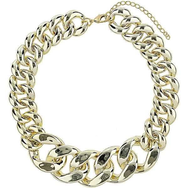 Dorothy Perkins Chunky chain necklace (710 INR) ❤ liked on Polyvore featuring jewelry, necklaces, gold, chunky gold chain necklace, dorothy perkins, chunky chain necklaces, gold necklace and gold jewellery