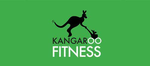 Kangaroo Fitness logo designs
