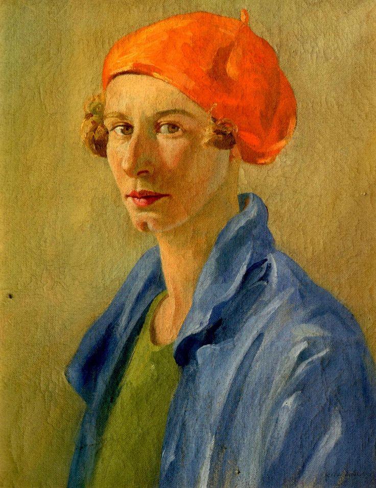 New Zealand painter Rita Angus (1908-1970) - Self Portrait