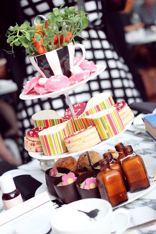 Afternoon Tea with One Love Organics | Sanderson Hotel, London http://www.wonderful--you.com/